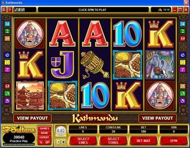 Yukon Gold featuring the Video Slots Kathmandu with a maximum payout of $30,000