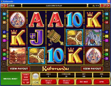 Mummys Gold featuring the Video Slots Kathmandu with a maximum payout of $30,000