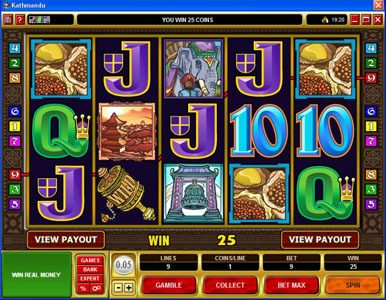 EypoBet featuring the Video Slots Kathmandu with a maximum payout of $30,000