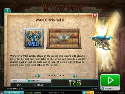 Diamond 7 featuring the Video Slots Kherpi The Eternal God with a maximum payout of $60,000