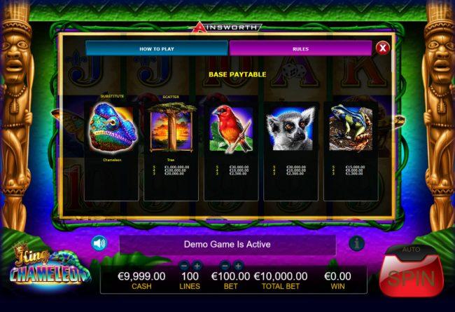 King Chameleon :: High Value Symbols