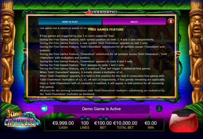 King Chameleon :: Free Game Rules