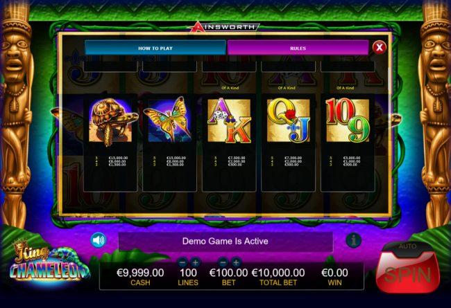 King Chameleon :: Low Value Symbols