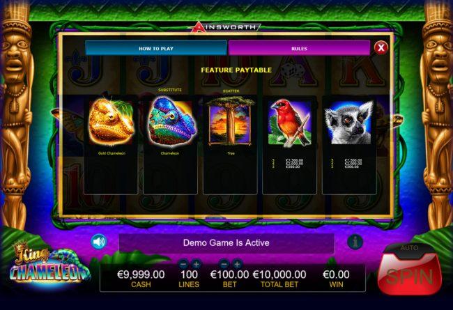 King Chameleon :: Free Spins - High Value Symbols