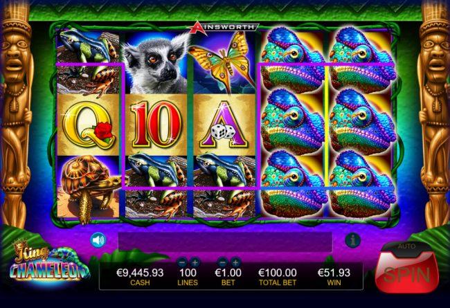 King Chameleon :: Multiple winning paylines