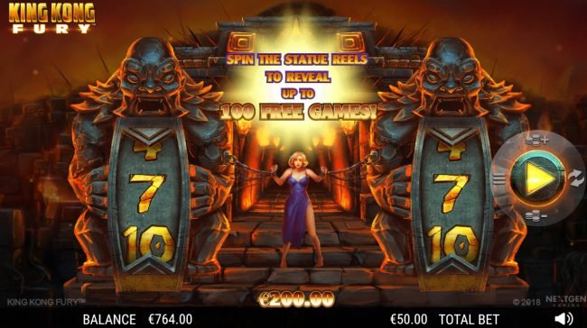 King Kong Fury :: Spin the reels to win free spins
