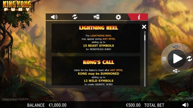 King Kong Fury :: Lightning Reel Rules