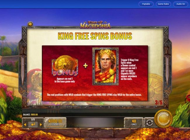 King Free Spins Bonus Rules