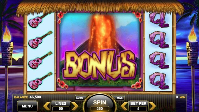 King of the Luau :: Scatter win triggers the free spins feature