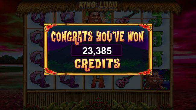 King of the Luau :: Total Free Spins Payout