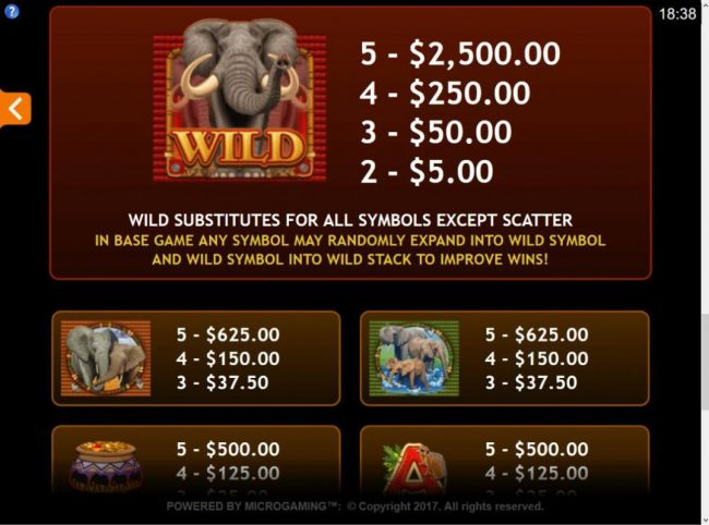 Play slots at Casino Action: Casino Action featuring the Video Slots King Tusk with a maximum payout of $62,000