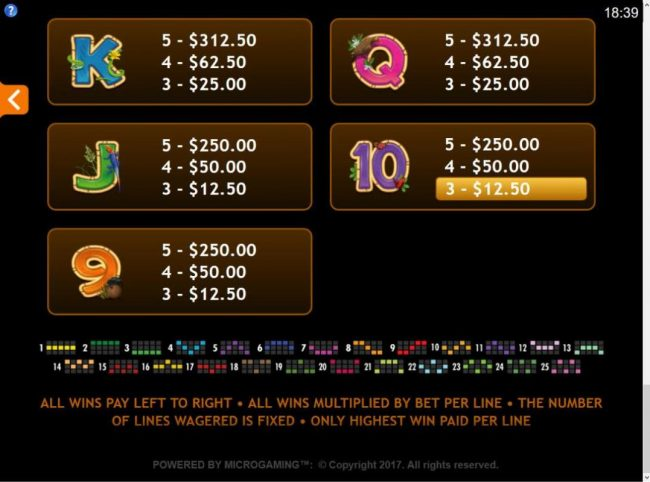 River Nile featuring the Video Slots King Tusk with a maximum payout of $62,000