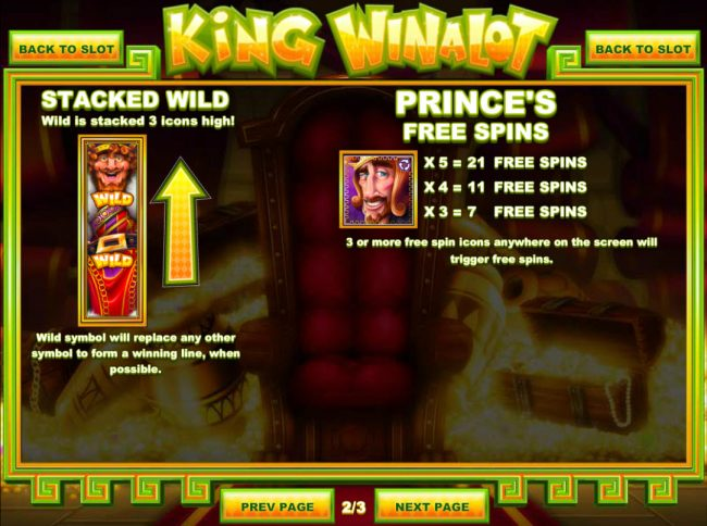 Bovada featuring the Video Slots King Winalot with a maximum payout of $12,500