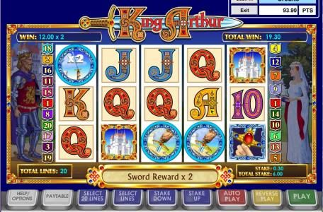 VIP Casino featuring the Video Slots King Arthur with a maximum payout of $50,000