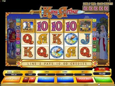 Casino Classic featuring the Video Slots King Arthur with a maximum payout of $50,000