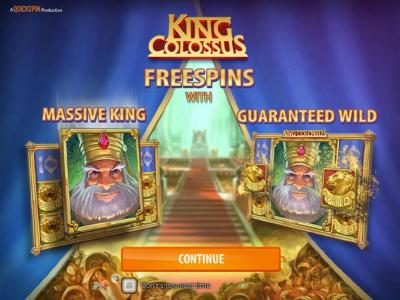 Play slots at BGO Vegas: BGO Vegas featuring the Video Slots King Colossus with a maximum payout of $60,000