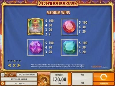Amsterdam Casino featuring the Video Slots King Colossus with a maximum payout of $60,000
