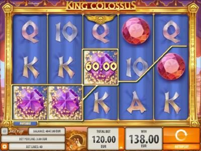 Norskespill featuring the Video Slots King Colossus with a maximum payout of $60,000