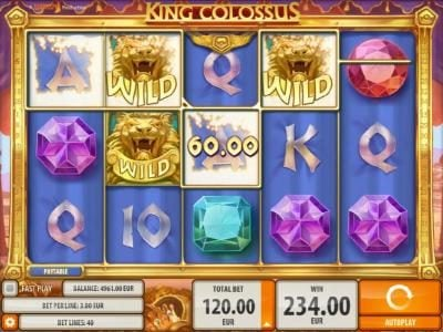 Ladbrokes featuring the Video Slots King Colossus with a maximum payout of $60,000