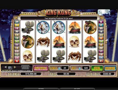 TS featuring the Video Slots King Kong with a maximum payout of 150,000x