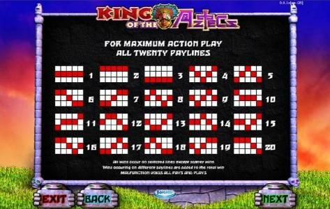 Powerspins featuring the Video Slots King of the Aztecs with a maximum payout of $10,000