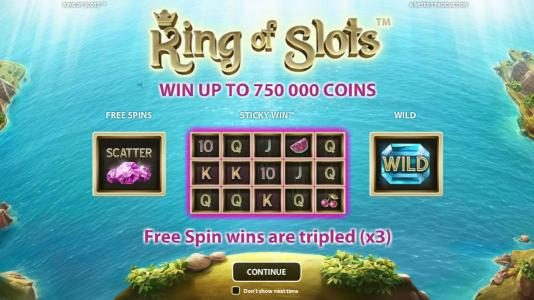 Wild Wild Bet featuring the Video Slots King of Slots with a maximum payout of $750,000