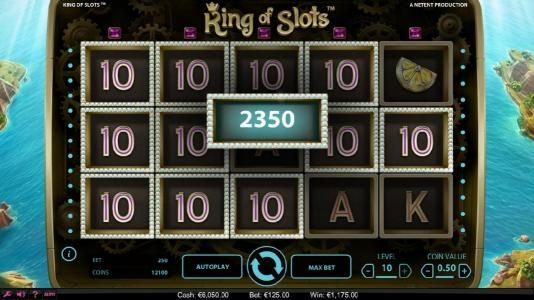 Club Vulkan featuring the Video Slots King of Slots with a maximum payout of $750,000