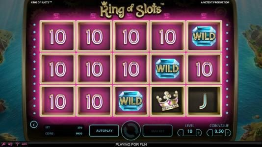 All Irish featuring the Video Slots King of Slots with a maximum payout of $750,000