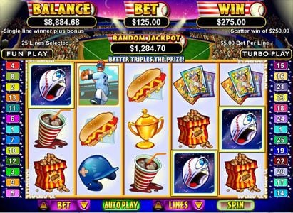 Royal Ace featuring the Video Slots King of Swing with a maximum payout of $250,000