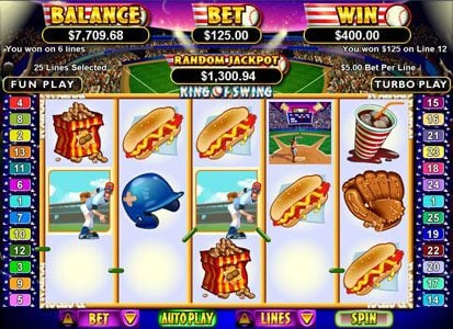 Play slots at iNET Bet: iNET Bet featuring the Video Slots King of Swing with a maximum payout of $250,000