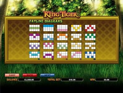 TS featuring the Video Slots King Tiger with a maximum payout of $10,000