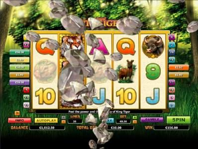 Joy Casino featuring the Video Slots King Tiger with a maximum payout of $10,000