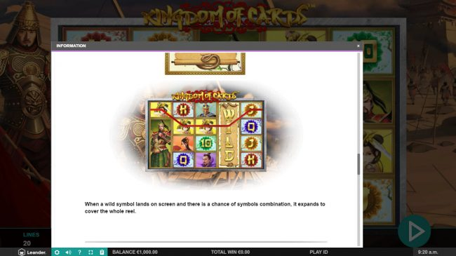Conquer featuring the Video Slots Kingdom of Cards with a maximum payout of $30,000