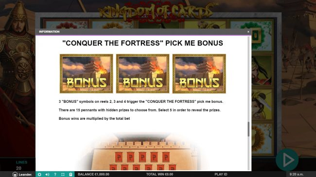 Diamond 7 featuring the Video Slots Kingdom of Cards with a maximum payout of $30,000