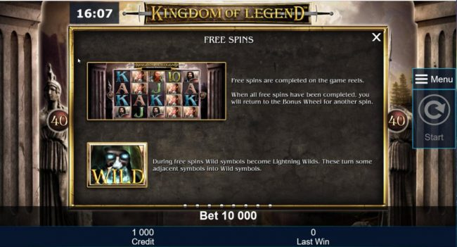 Free Spins and Wild Symbol Rules.