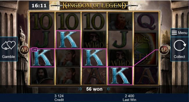 Winner Million featuring the Video Slots Kingdom of Legend with a maximum payout of $5,000,000