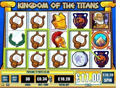 Norske Casino featuring the Video Slots Kingdom of the Titans with a maximum payout of $25,000