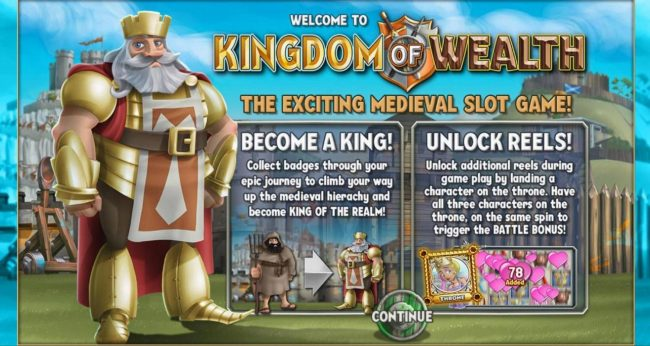 Play slots at Omnia: Omnia featuring the Video Slots Kingdom of Wealth with a maximum payout of $500,000