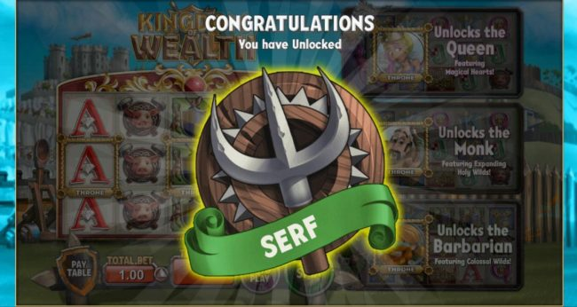 Kingdom of Wealth :: You will start the game by unlocking the Serf badge.