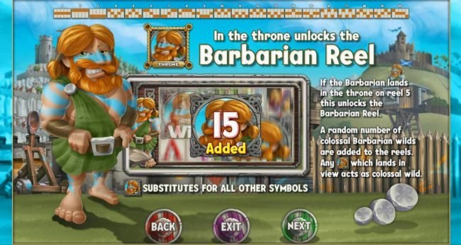 Kingdom of Wealth :: Landing a Barbarian in the throne unlocks the Barbarian Reel.