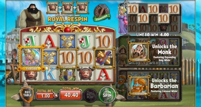 Kingdom of Wealth :: Queen Reel feature pays out a total of 40.40