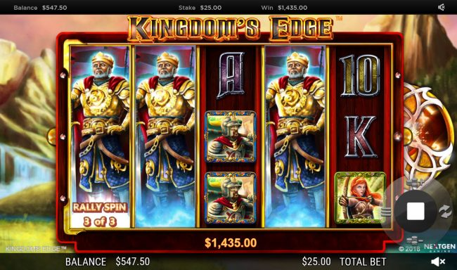 Orientxpress featuring the Video Slots Kingdoms Edge 95 with a maximum payout of $30,000