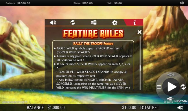Guts featuring the Video Slots Kingdoms Edge 95 with a maximum payout of $30,000