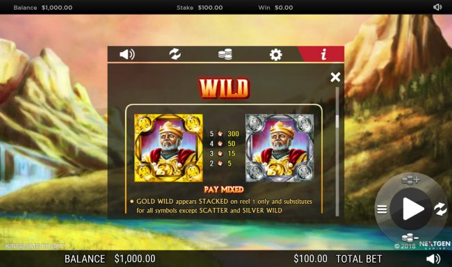 Casino Cruise featuring the Video Slots Kingdoms Edge 95 with a maximum payout of $30,000