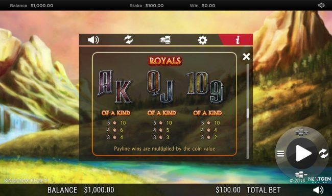 Casiplay featuring the Video Slots Kingdoms Edge 95 with a maximum payout of $30,000