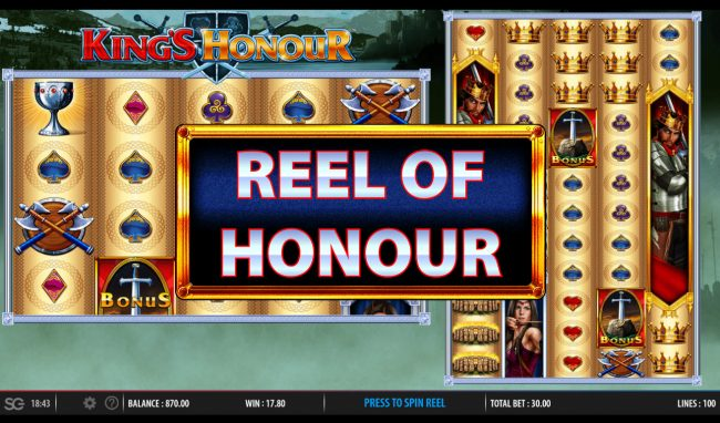 Play slots at Wicked Jackpots: Wicked Jackpots featuring the Video Slots King's Honour with a maximum payout of $250,000