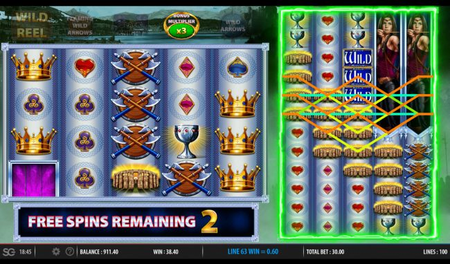 Mega Casino featuring the Video Slots King's Honour with a maximum payout of $250,000