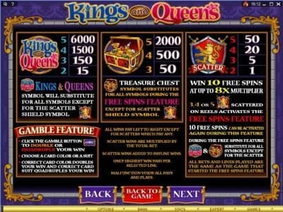 Play slots at Roxy Palace: Roxy Palace featuring the Video Slots Kings and Queens with a maximum payout of $1,500