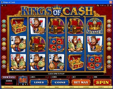 Play slots at Spin Hill: Spin Hill featuring the Video Slots Kings of Cash with a maximum payout of $500,000