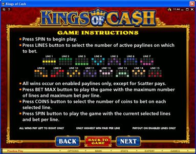 Lucky Nugget featuring the Video Slots Kings of Cash with a maximum payout of $500,000